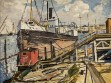 Large Boat at Dock, 1934-35