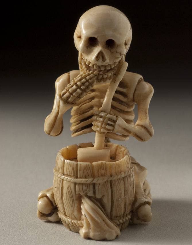 Japanese, Skeleton with Water Bucket