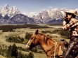 Cowboys in Grand Tetons, Wyoming, 1962