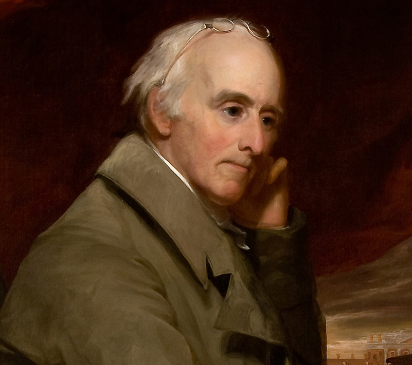 Thomas Sully, Portrait of Benjamin Rush (detail)